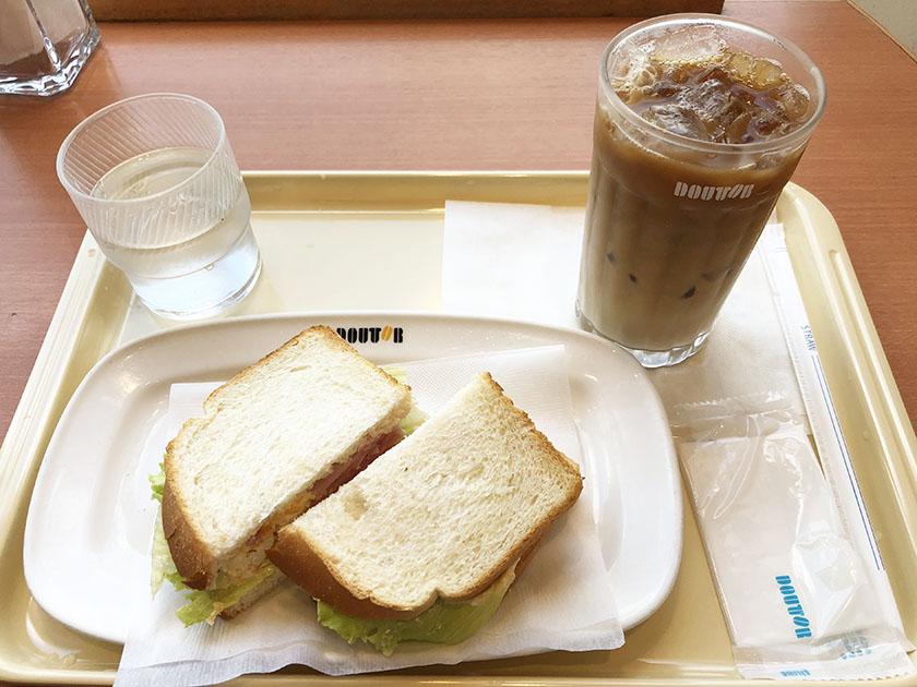 ドトールの朝カフェ・セットAハムタマゴサラダ
